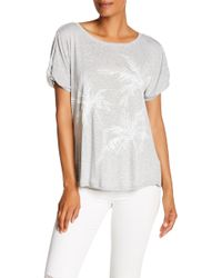 Democracy - Short Origami Sleeve Palm Shirt - Lyst