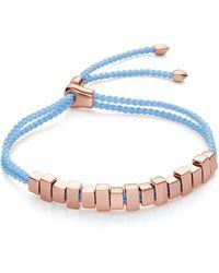 Monica Vinader Linear Ingot Friendship Bracelet - Multicolor