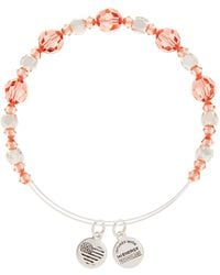 ALEX AND ANI | Petal Crystal Beaded Extendable Wire Bangle | Lyst