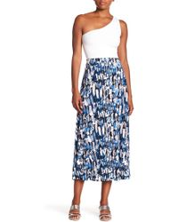 Kasper - Patterned Midi Skirt - Lyst