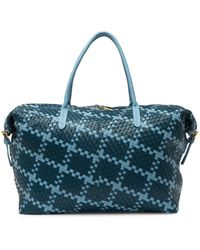 Deux Lux Montauk Woven Weekend Bag - Blue