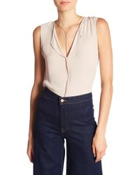 B Collection By Bobeau - Lily Pleated Back Solid Woven Tank Top - Lyst