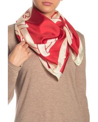 Love Moschino Link Silk Square Scarf - Red