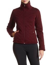 The North Face Caroluna Quilted Cropped Jacket - Purple