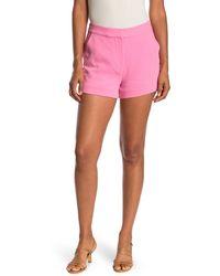 Cinq À Sept Elaine Crepe Shorts - Pink