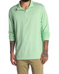 Tommy Bahama Island Active Half-zip Sweatshirt - Green