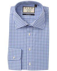 Thomas Pink - Slim Fit Summers Check Print Dress Shirt - Lyst