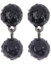 Carolee Crystal Pave Ball Drop Earrings - Multicolor