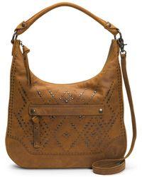 Frye - Melissa Studded Large Zip Hobo Handbag - Lyst
