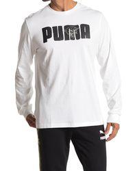 PUMA Franchise Street Long Sleeve T-shirt - White