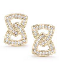 Dana Rebecca - 14k Yellow Gold Isabelle Brooke Interlocked Diamond Stud Earrings - 0.35 Ctw - Lyst