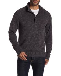 Weatherproof - Hidden Half Zip Front Sweater - Lyst