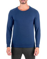 Unsimply Stitched - French Terry Relaxed Neck Crew Sweater - Lyst