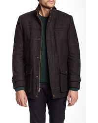 Vince Camuto - Wool Shetland Stand-up Collar Coat - Lyst