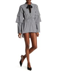 W118 by Walter Baker - Ginger Gingham Tiered Sleeve Dress - Lyst