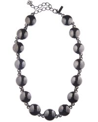 Oscar de la Renta - Bold Beaded Coin Necklace - Lyst