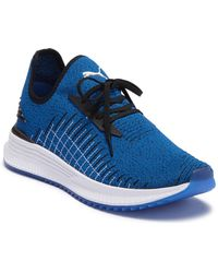 PUMA - Avid Evoknit (strong Blue/ Black/ White) Lace Up Casual Shoes - Lyst