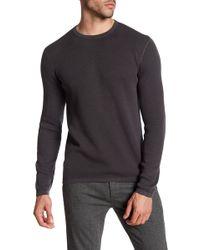 Theory - Savaro Breach Texture Cotton Knit Sweater - Lyst