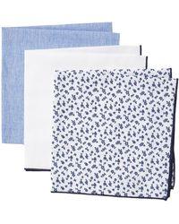Nordstrom Appletree Floral Pocket Squares - Blue