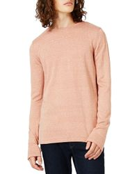 TOPMAN - Longline Crewneck Sweater - Lyst