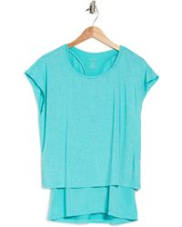Nine West Double Layer 2/1 Top Jersey Me - Blue