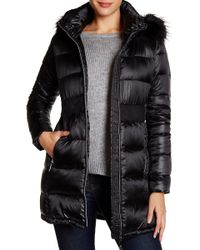 Cece by Cynthia Steffe - Hannah Faux Fur Trim Down Coat - Lyst