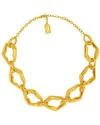 Karine Sultan - Irregular Link Necklace - Lyst