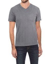 Xray Jeans Solid V-neck Flex T-shirt - Gray