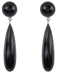 Adornia Sterling Silver Black Onyx Dangle Drop Earrings