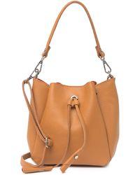 Luisa Vannini Leather Top Handle Crossbody Bag In Cognac At Nordstrom Rack - Brown