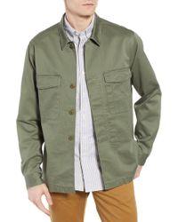 J.Crew - Regular Fit Military Shirt Jacket - Lyst