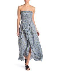 Tiare Hawaii Strapless Strappy Maxi Dress - Blue