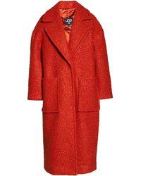 UGG Hattie Long Faux Fur Coat - Red