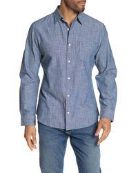 Wallin & Bros. Long Sleeve Chambray Shirt - Blue