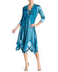 Komarov 2 Piece Dress And Jacket Set - Blue