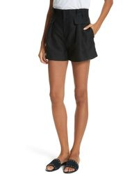FRAME - Paperbag Shorts - Lyst