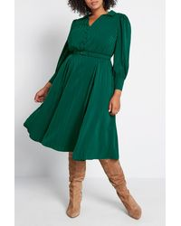ModCloth Classy Announcement Midi Dress - Green