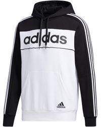 adidas Essentials Hooded Sweatshirt - Black