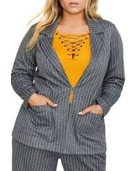 326c9c2aedf Michel Studio - Yarn-dye Stripe Jacket (plus Size) - Lyst