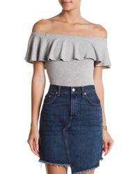 Soprano - Off-the-shoulder Ruffle Bodysuit - Lyst