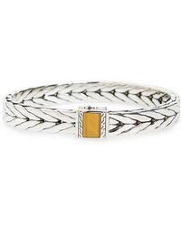 John Hardy Sterling Silver & 18k Yellow Gold Modern Chain Bracelet - Metallic