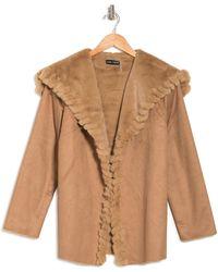 Love Token Valentina Faux Fur Jacket - Brown