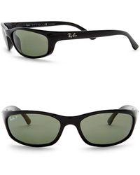 Ray-Ban - Polarized Wrap Acetate Sunglasses - Lyst