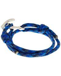 Link Up - Blue Nylon Paracord Anchor Wrap Bracelet - Lyst