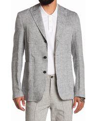 Billy Reid Four Pocket Square Short Coat - Gray