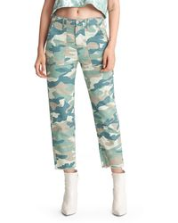 Mother The Shaker Chop Crop Jeans - Green