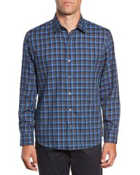 Zachary Prell - Danise Regular Fit Check Sport Shirt - Lyst