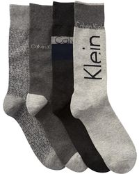 Calvin Klein - Assorted Logo Crew Socks - Pack Of 4 - Lyst