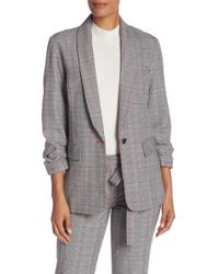 Laundry by Shelli Segal - York Plaid Ruched Sleeve Jacket - Lyst