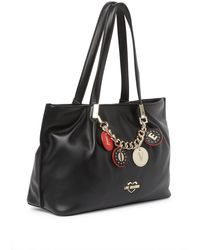 Love Moschino Borsa Charm Chain Handbag - Black